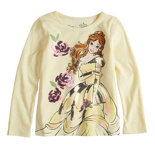6683b6af Disney's Beauty & The Beast Belle Girls 4-10 Sequin Long Sleeve ...