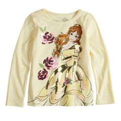 Disney's Beauty & The Beast Belle Toddler Girl Sequin Long Sleeve Graphic Tee by Disney/Jumping Beans®