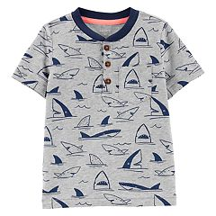 Toddler Boy Carter's Shark Pocket Henley Top