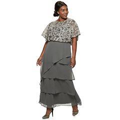 562196a6a9c Plus Size Le Bos Embroidered Lace Blouson Dress