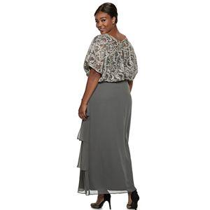 Plus Size Le Bos Embroidered Lace Blouson Dress