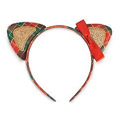 Holiday Plaid Cat Ears Headband