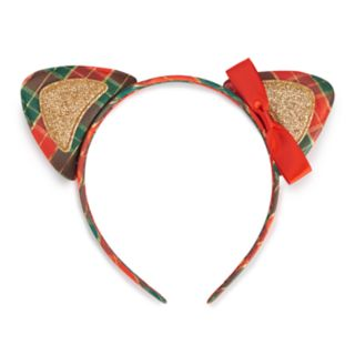 Holiday Plaid Cat Ears Headband