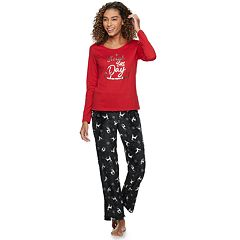 Women's Be Yourself Graphic Tee & Fleece Pants Pajama Set