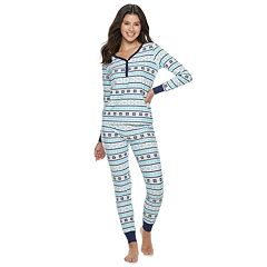 Women's Be Yourself Henley Top & Joggers Pajama Set
