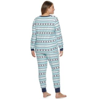 Plus Size Be Yourself Henley Top & Joggers Pajama Set