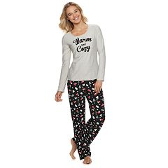 Women's Be Yourself Graphic Tee & Pants Pajama Set