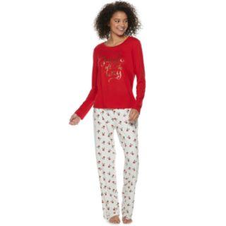 Women's Be Yourself Graphic Tee & Pants Pajama Set