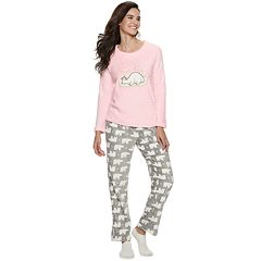Women's Be Yourself 3-piece Fleece Pajama Set