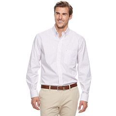 Big & Tall IZOD Essential Regular-Fit Tattersall Button-Down Shirt