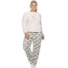 Plus Size Be Yourself 3-piece Fleece Pajama Set