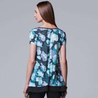 Women's Simply Vera Vera Wang Print Handkerchief-Hem Tee