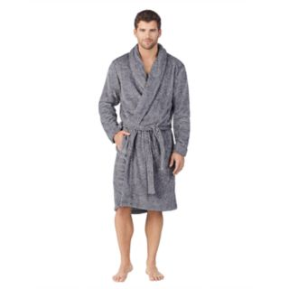 Men's Cuddl Duds Shawl-Collar Microfleece Robe