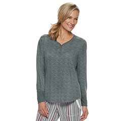 Women's Croft & Barrow® Henley Pajama Tee