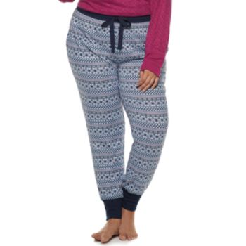 Plus Size Croft & Barrow® Fairisle Jogger Pajama Pants