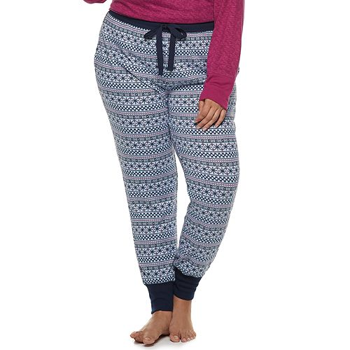 Plus Size Croft & Barrow® Fairisle Jogger Pajama Pants