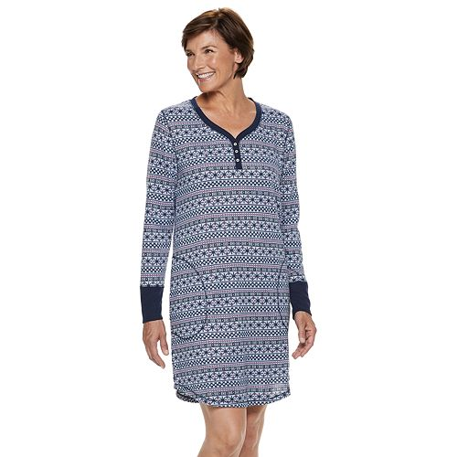 Women's Croft & Barrow® Henley Sleepshirt
