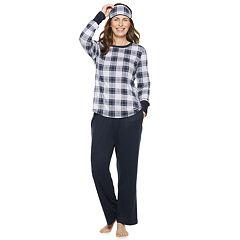 Women's Croft & Barrow® Printed 3-piece Tee & Pants Pajama Set