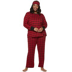 Plus Size Croft & Barrow® Printed 3-piece Sleep Tee & Pants Pajama Set