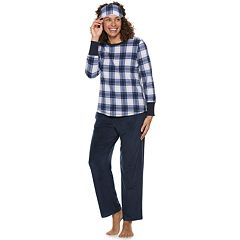 Women's Croft & Barrow® 3-piece Sleep Tee & Pants Fleece Pajama Set
