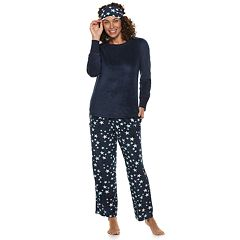 Women's Croft & Barrow® 3-piece Tee & Pants Pajama Set