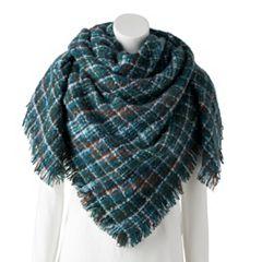Women's Apt. 9® Micro Plaid Blanket Scarf
