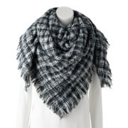 Women's Apt. 9® Micro Plaid Blanket Scarf