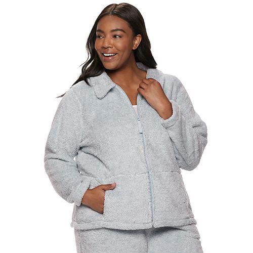 Plus Size Croft & Barrow® Plush Jacket
