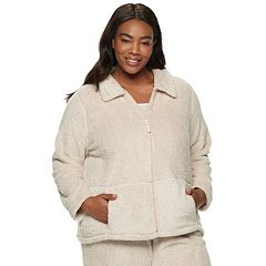 Plus Size Croft & Barrow® Plush Jacket