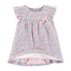 Baby Girl Carter's Floral Bodysuit Dress & Cardigan Set