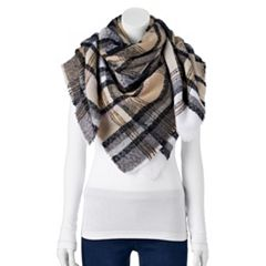 Women's Apt. 9® Boucle Plaid Blanket Square Scarf