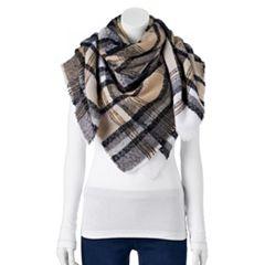 Women's Apt. 9® Boucle Plaid Blanket Square Scarf