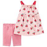 Baby Girl Carter's Watermelon Tank Top & Striped Bike Shorts Set