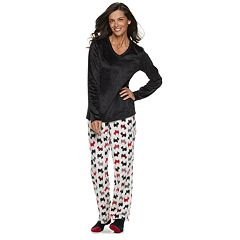 Women's Croft & Barrow® Minky Fleece 3-piece Pajama Set