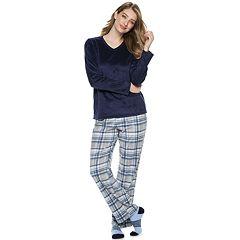 Women's Croft & Barrow® Minky Fleece 3-piece Pajama Set