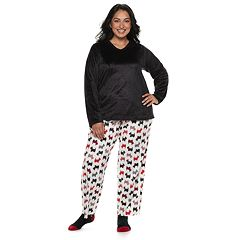 Plus Size Croft & Barrow® Minky Fleece 3-piece Pajama Set