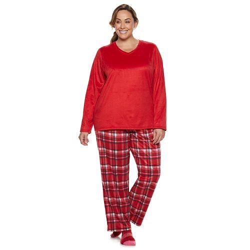 Plus Size Croft & Barrow® Minky Fleece 3-piece Pajama Set