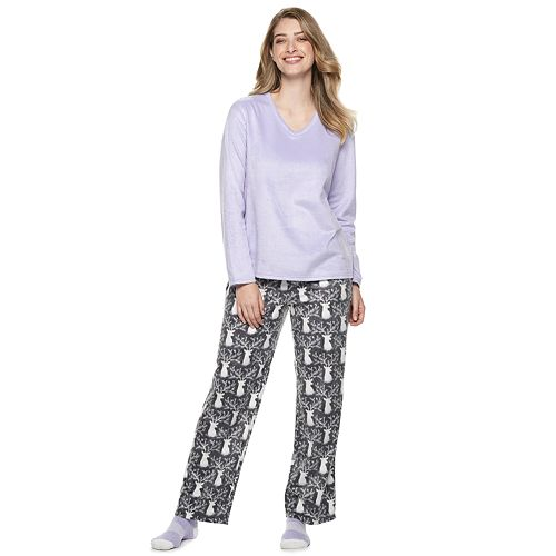 1a31851d65 Petite Croft   Barrow® Minky Fleece 3-piece Pajama Set