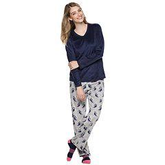 Petite Croft & Barrow® Minky Fleece 3-piece Pajama Set