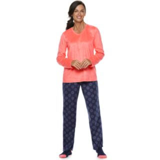 Petite Croft & Barrow® Minky Fleece 3-piece Pajama Set
