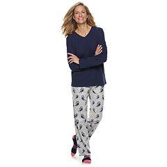 Women's Croft & Barrow® Fleece 3-piece Pajama Set