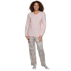 Women's Croft & Barrow® Fleece 3-piece Pajama Set