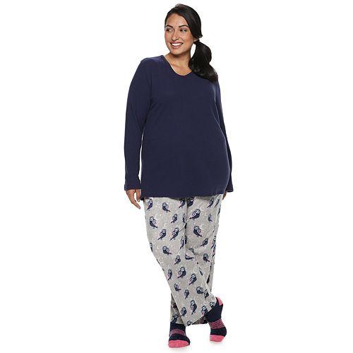 8efa6863d1d Plus Size Croft   Barrow® Fleece 3-piece Pajama Set