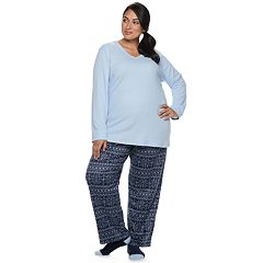 Plus Size Croft & Barrow® Fleece 3-piece Pajama Set