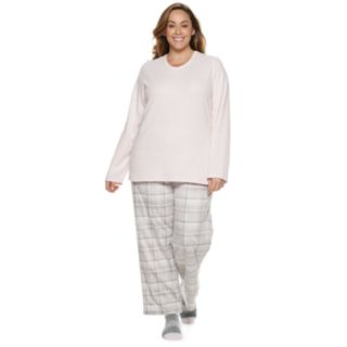Plus Size Croft & Barrow® Fleece 3-piece Pajama Set