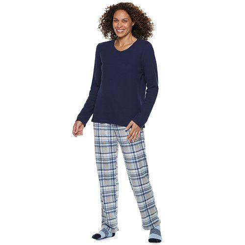 Petite Croft & Barrow® Fleece 3-piece Pajama Set