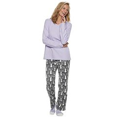 Petite Croft & Barrow® Fleece 3-piece Pajama Set