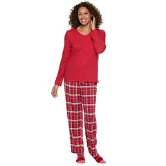 Women's Croft & Barrow® Tee, Pants & Socks Pajama Set