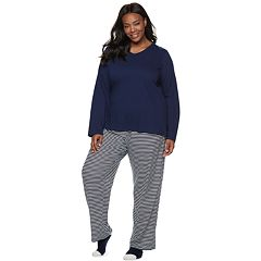 Plus Size Croft & Barrow® Tee, Pants & Socks Pajama Set