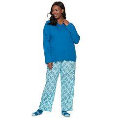 Plus Size Croft & Barrow® Tee, Pants & Socks Pajama Set